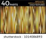 vector set of gold gradients ... | Shutterstock .eps vector #1014086893