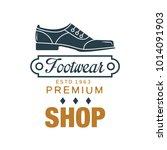 footwear  premium shop logo ... | Shutterstock .eps vector #1014091903
