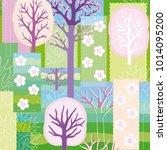 original spring patchwork...   Shutterstock .eps vector #1014095200