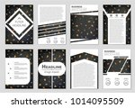 abstract vector layout... | Shutterstock .eps vector #1014095509
