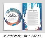 abstract vector layout... | Shutterstock .eps vector #1014096454