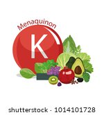 vitamin k  menaquinone . the... | Shutterstock .eps vector #1014101728