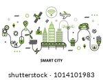 modern flat line design ... | Shutterstock .eps vector #1014101983