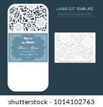 envelope for wedding invitation ... | Shutterstock .eps vector #1014102763