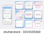 social media banner template.... | Shutterstock .eps vector #1014103360