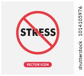 no stress vector icon... | Shutterstock .eps vector #1014105976