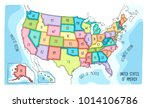 vector map of the united states ... | Shutterstock .eps vector #1014106786