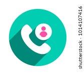contacts handle handset phone... | Shutterstock .eps vector #1014107416