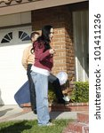 Small photo of LOS ANGELES - MAR 10: Nadya Suleman aka Octomum is at her house shortly after moving in with her 14 children on March 10, 2009 in Los Angeles, California