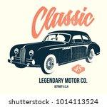 vintage car t shirt design... | Shutterstock .eps vector #1014113524