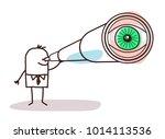 cartoon businessman with big... | Shutterstock .eps vector #1014113536