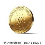golden cardano  ada ... | Shutterstock . vector #1014115276