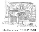 hand drawn romantic house from... | Shutterstock .eps vector #1014118540