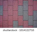 brick tile cement block color... | Shutterstock . vector #1014122710