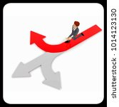 3d man chossing the right path  ... | Shutterstock . vector #1014123130