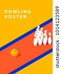 bowling tournament poster... | Shutterstock .eps vector #1014123589