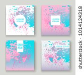 pastel pink cyan explosion... | Shutterstock .eps vector #1014124318
