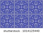 Kilim Rug Pattern In Blue And...