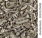 cartoon cute doodles disco... | Shutterstock .eps vector #1014125608