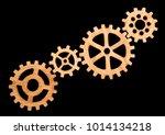 gear set. career growth ... | Shutterstock . vector #1014134218