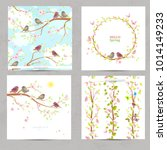 spring collection invitation... | Shutterstock .eps vector #1014149233