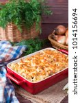 mac and cheese  american style...   Shutterstock . vector #1014156694