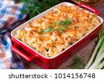 mac and cheese  american style...   Shutterstock . vector #1014156748