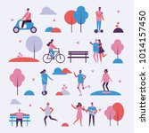 vector illustration in flat... | Shutterstock .eps vector #1014157450