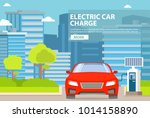 station electro recharge cars... | Shutterstock .eps vector #1014158890