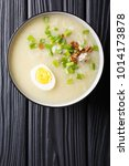 homemade asian rice soup with... | Shutterstock . vector #1014173878