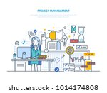 project management. organizing  ... | Shutterstock .eps vector #1014174808