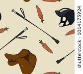 seamless pattern cartoon... | Shutterstock .eps vector #1014175924