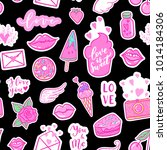 vector fashion fun patches... | Shutterstock .eps vector #1014184306