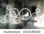 big data analytics. bi business ... | Shutterstock . vector #1014185203