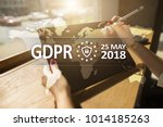 gdpr. data protection... | Shutterstock . vector #1014185263