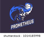 prometheus and a sports ball.... | Shutterstock .eps vector #1014185998
