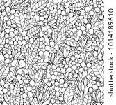 seamless pattern. coloring book ...   Shutterstock .eps vector #1014189610