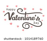 happy valentine days with... | Shutterstock .eps vector #1014189760