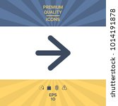 arrow next icon | Shutterstock .eps vector #1014191878