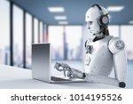 3d rendering humanoid robot...   Shutterstock . vector #1014195526