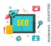 seo  online marketing concept. | Shutterstock .eps vector #1014197350