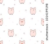 seamless pattern with cute... | Shutterstock .eps vector #1014199198