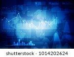 2d rendering stock market... | Shutterstock . vector #1014202624