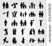 humans vector icon set. mother... | Shutterstock .eps vector #1014203818