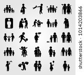 humans vector icon set.... | Shutterstock .eps vector #1014203866