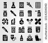 medical vector icon set.... | Shutterstock .eps vector #1014204040