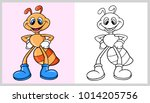 ant animal cartoon character... | Shutterstock .eps vector #1014205756