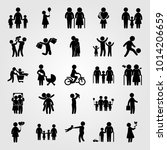 humans vector icon set.... | Shutterstock .eps vector #1014206659