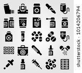 medical vector icon set.... | Shutterstock .eps vector #1014206794