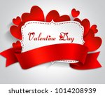 valentine day frame with label...   Shutterstock . vector #1014208939